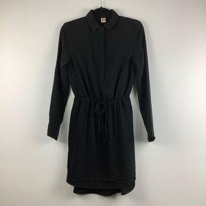 NWT A by Amanda Uprichard Button Down Tie Dress